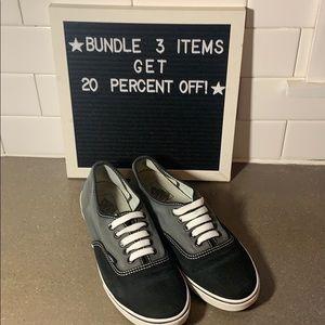 Women's Vans black & Gray sneakers